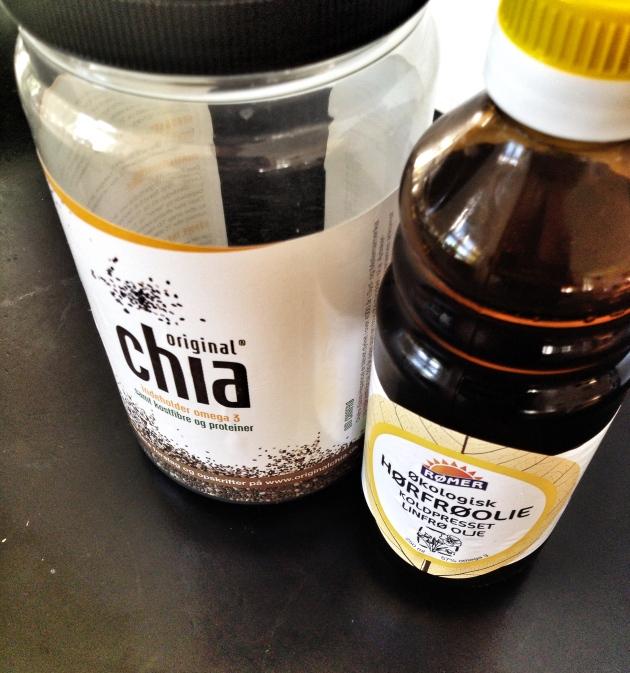 Hørfrøolie og chia